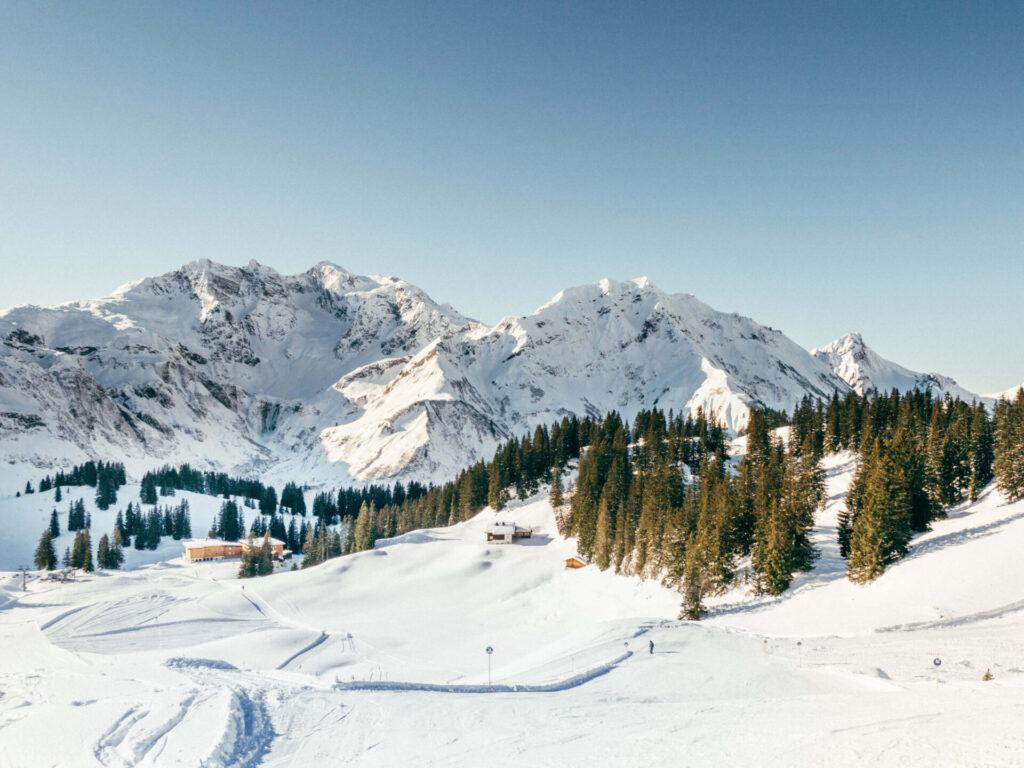 vorarlberg warth-schröcken warth schröcken ski-arlberg skiing snow winter hut