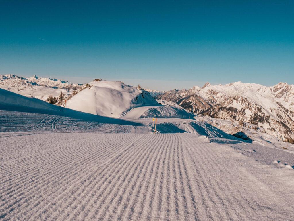 vorarlberg sonnenkopf arlberg klostertal skiing mountain piste snow