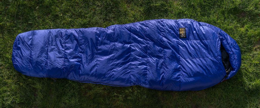 Mountain-Hardwear Rock-15F/-9C schlafsacktest gear-review sleeping-bag gesamtansicht
