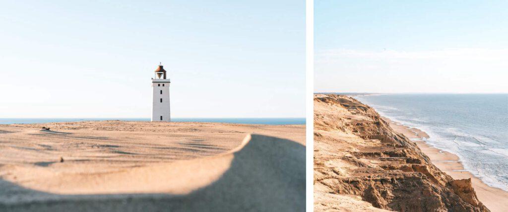 dänemark küste meer nordsee rubjerg-knud leuchtturm steilküste mann klippe
