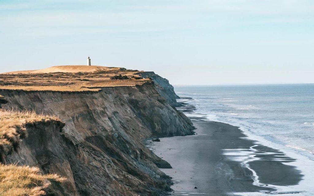 dänemark rubjerg-knud leuchtturm nordsee frau düne sand sonne küste meer